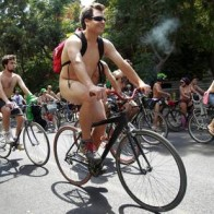 WORLD NAKED BIKE RIDE EVENT IN SANTIAGO DE CHILE
