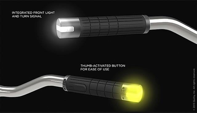 Indicator, illuminazione nelle manopole della bici