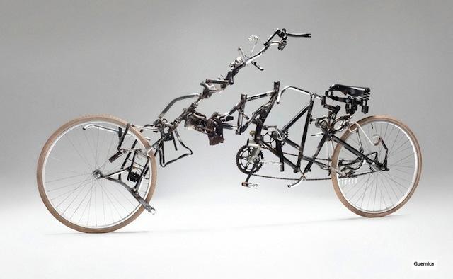 Arte e bici riciclate by Victor Sonna
