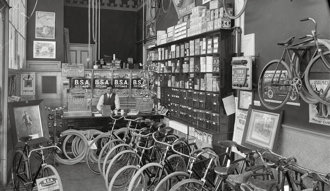 Cool Bike Shops. Vintage photos by Shorpy
