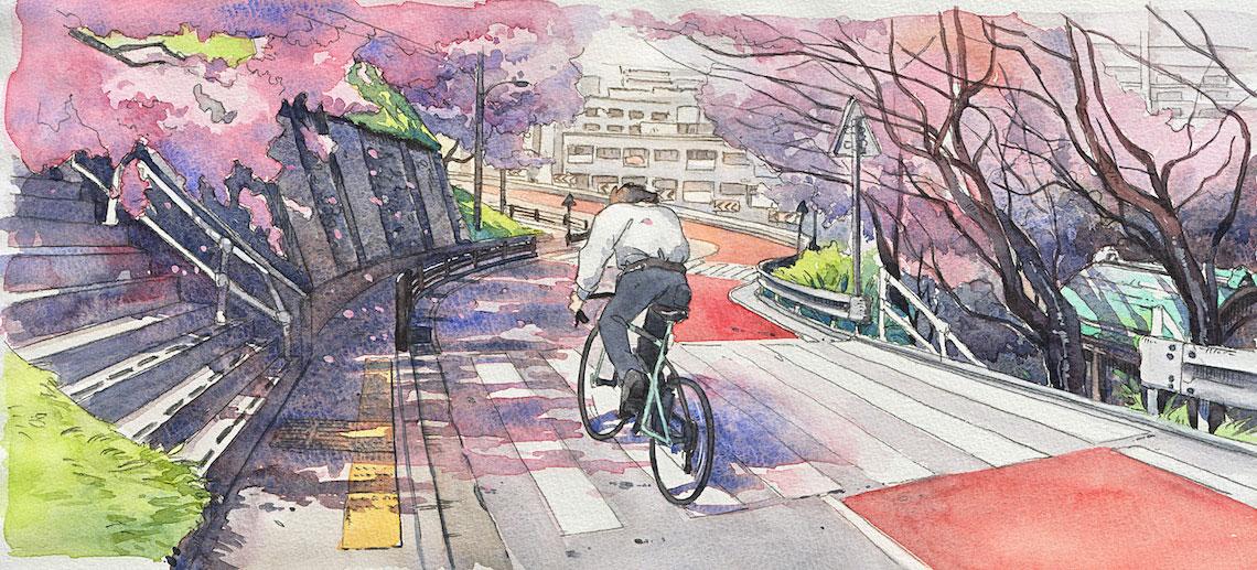 Mateusz Urbanowicz BicycleBoy illustration series_urbancycling_1