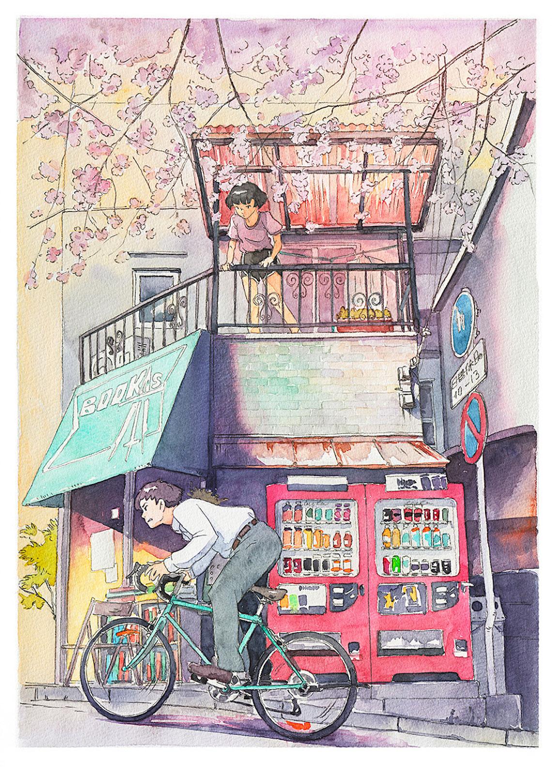 Mateusz Urbanowicz BicycleBoy illustration series_urbancycling_3