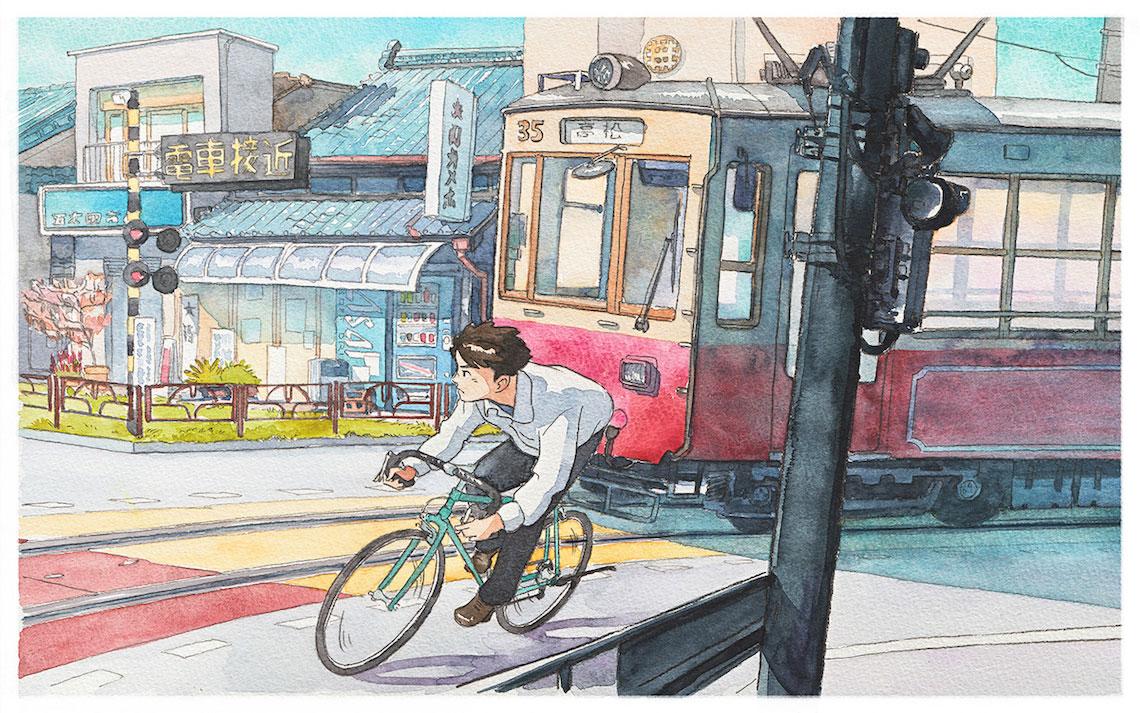 Mateusz Urbanowicz BicycleBoy illustration series_urbancycling_5