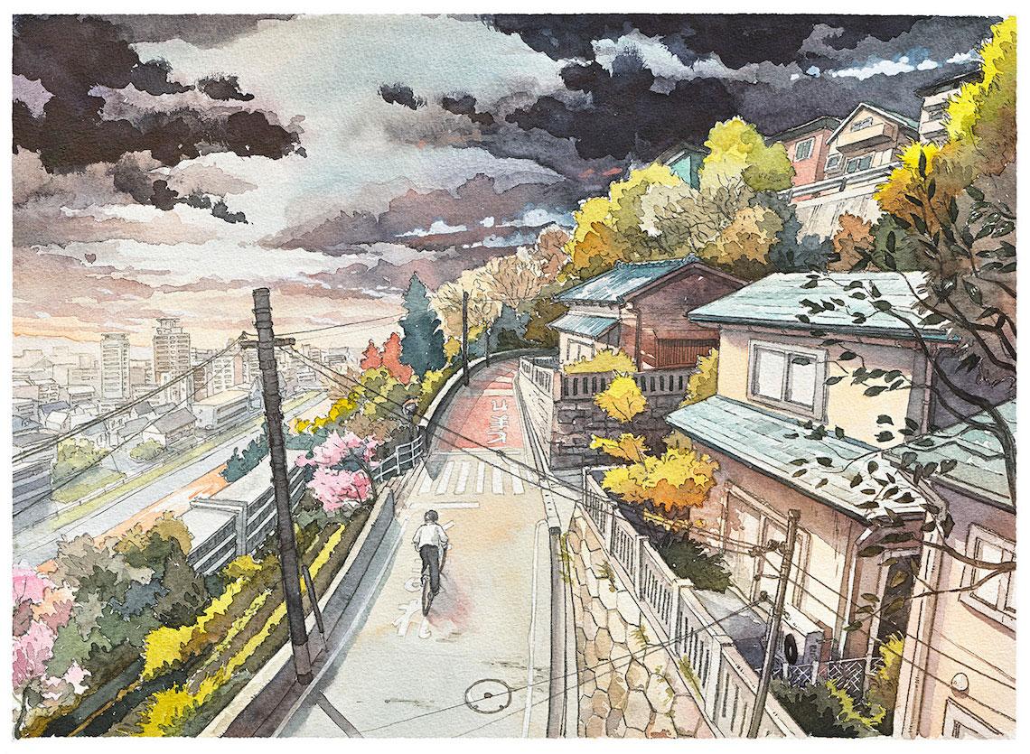 Mateusz Urbanowicz BicycleBoy illustration series_urbancycling_8