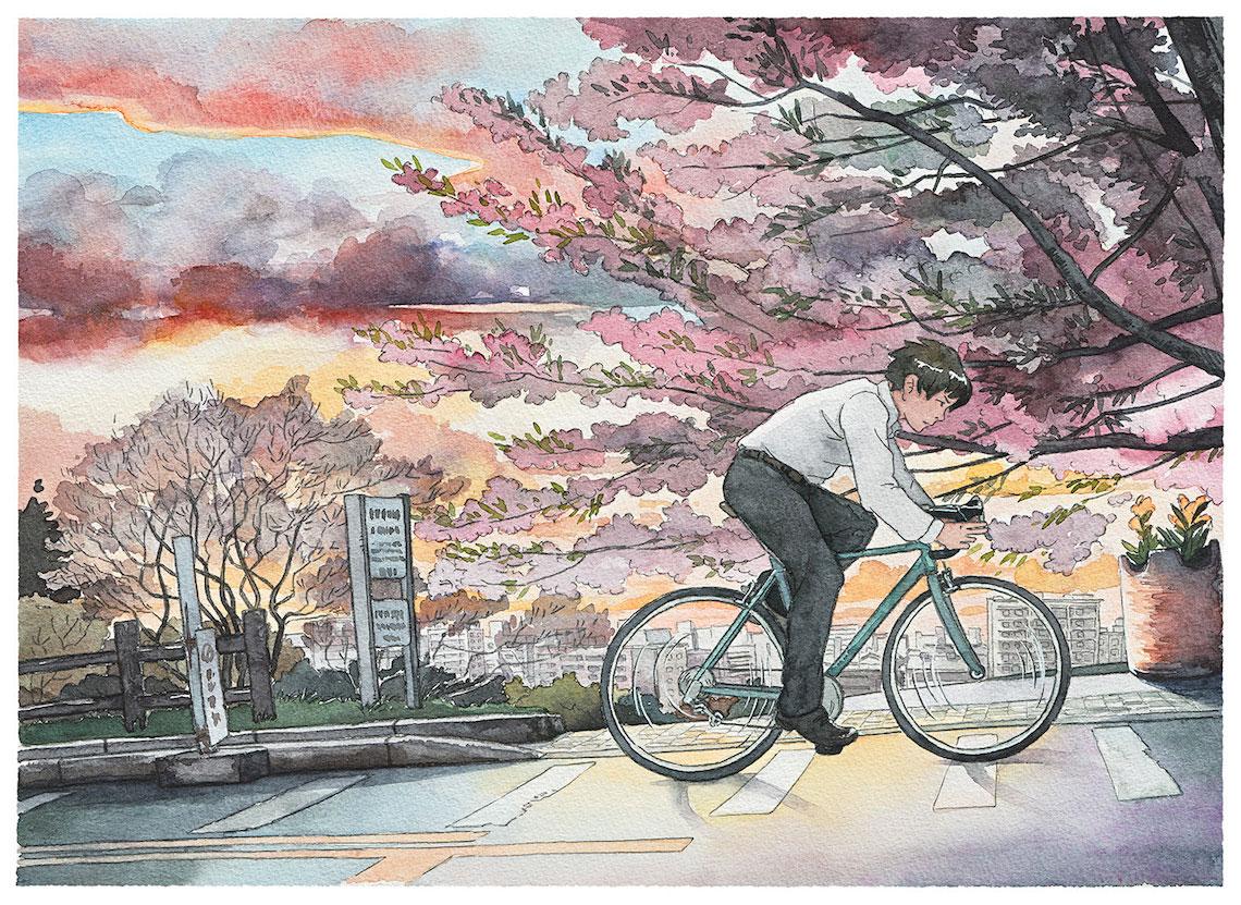 Mateusz Urbanowicz BicycleBoy illustration series_urbancycling_9