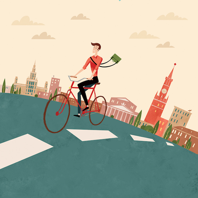To work by bicycle_Antonina Shvets_urbancycling_2