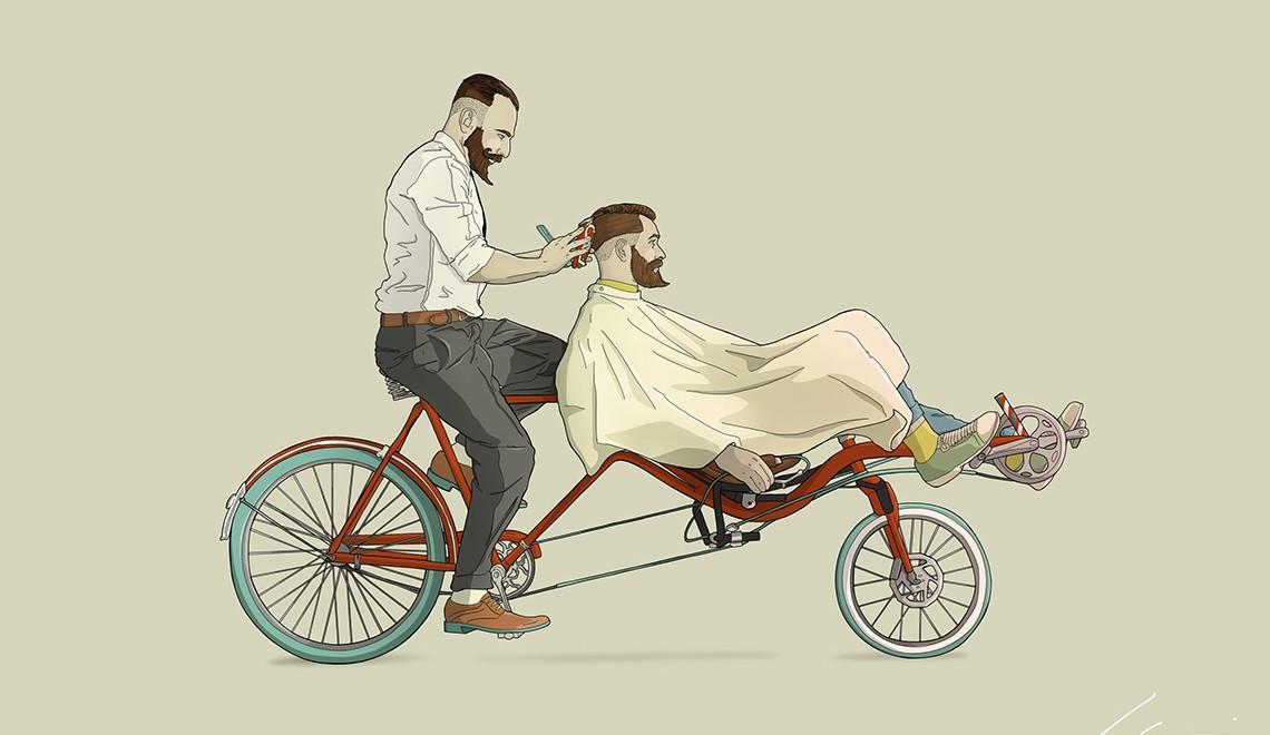 Bicicletas. Illustrazioni di Ibai Eizaguirre Sardon