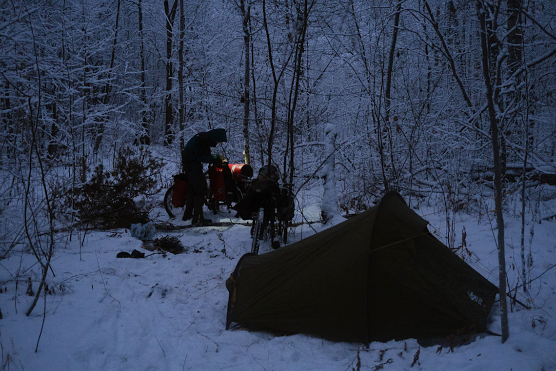 Karelia in inverno. Cicloturismo estremo a -25°