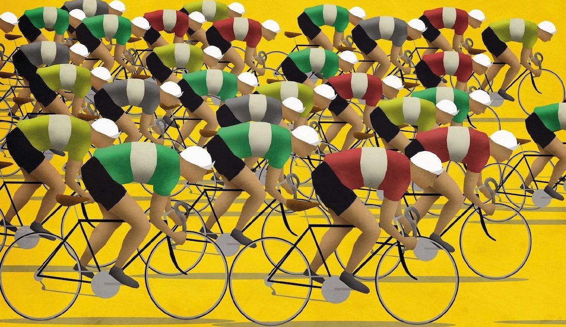 Mark Fairhurst. Illustrazioni e ciclismo