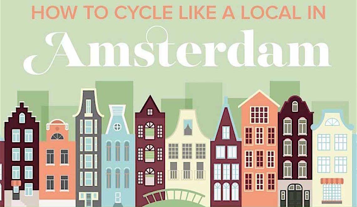 Amsterdam Infografica. Come andare in bici