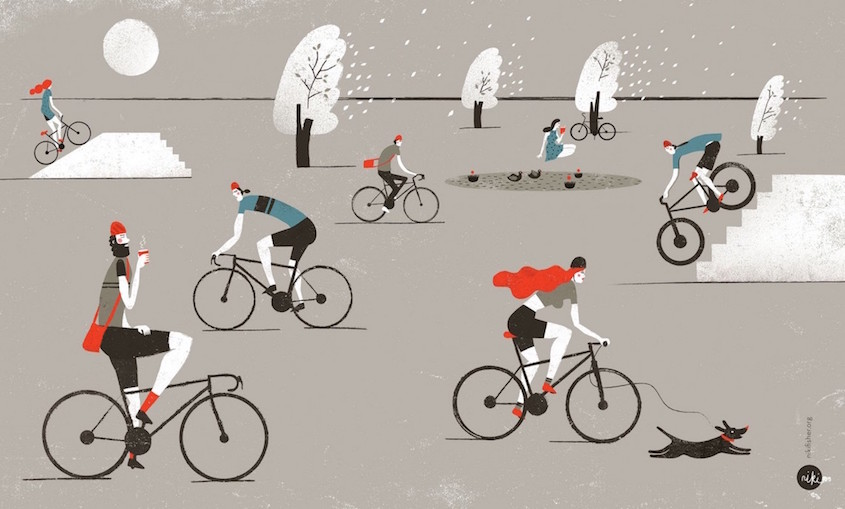 Niki Fisher illustrations_urbancycling