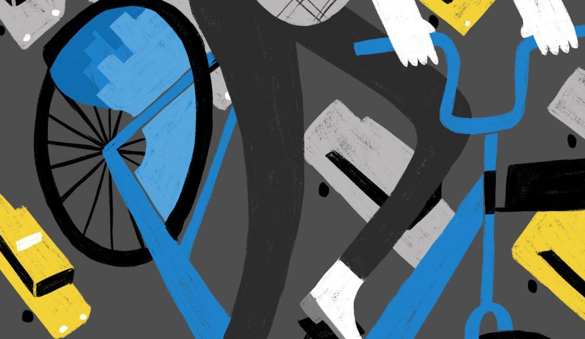 Le illustrazioni sulla bicicletta di Ellen Surrey
