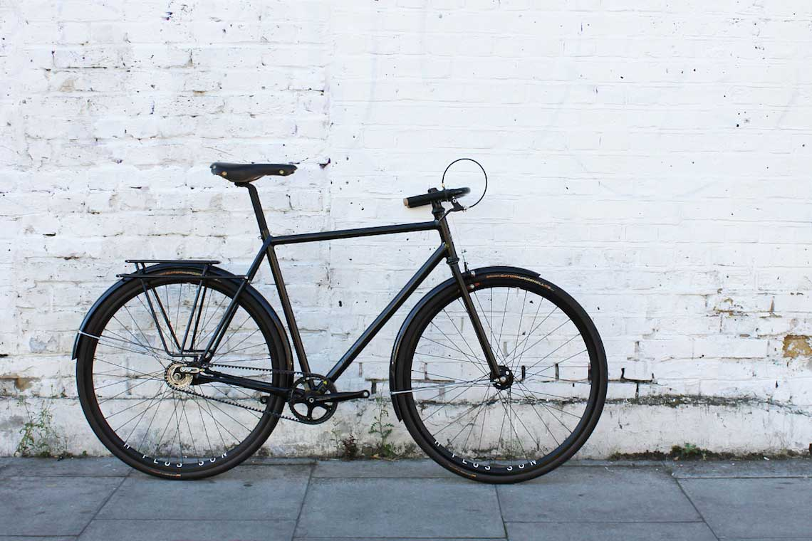 Patrick's stealthy town bike. Donhou Bicycles