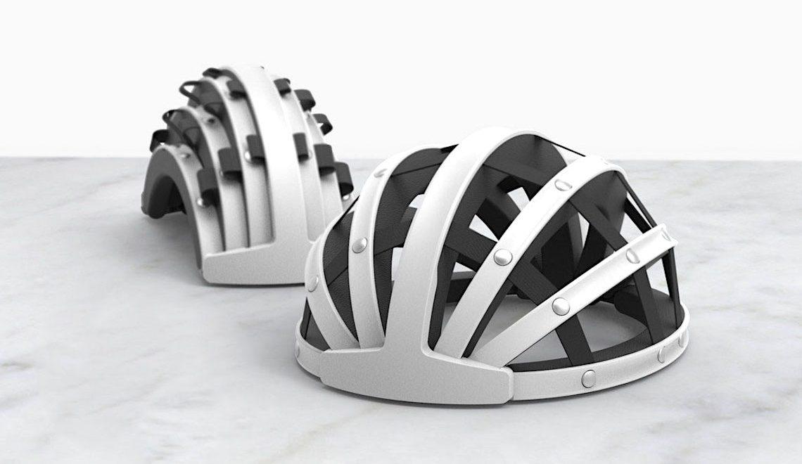 FEND. Il casco che si piega, per i ciclisti urbani