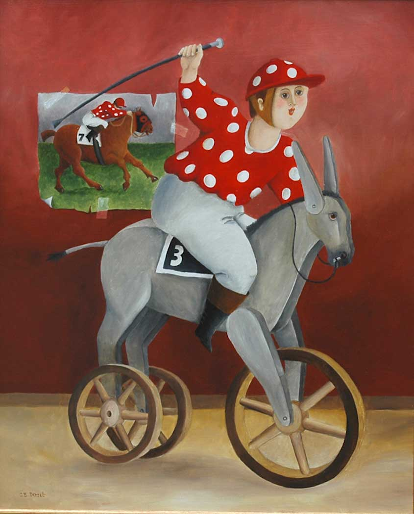 Carole Beatrice Perret paintings_urbancycling_7