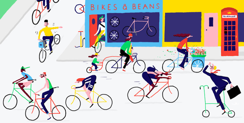 Daniel Frost illustrations_urbancycling_1