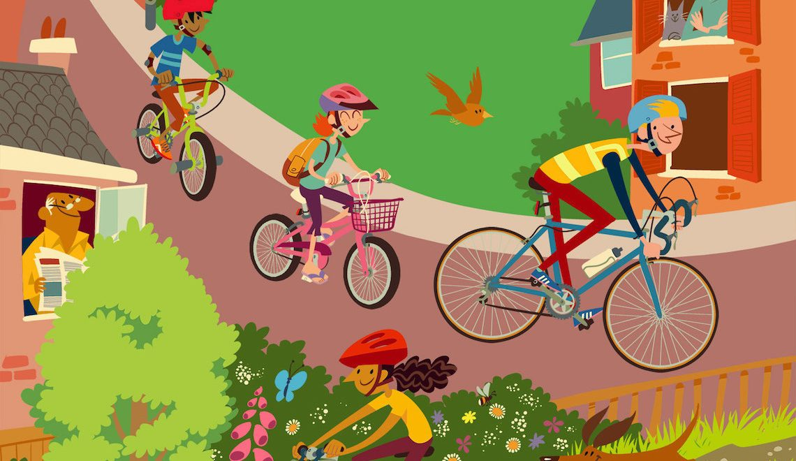 Le illustrazioni di Sean Longcroft. Cycledelic