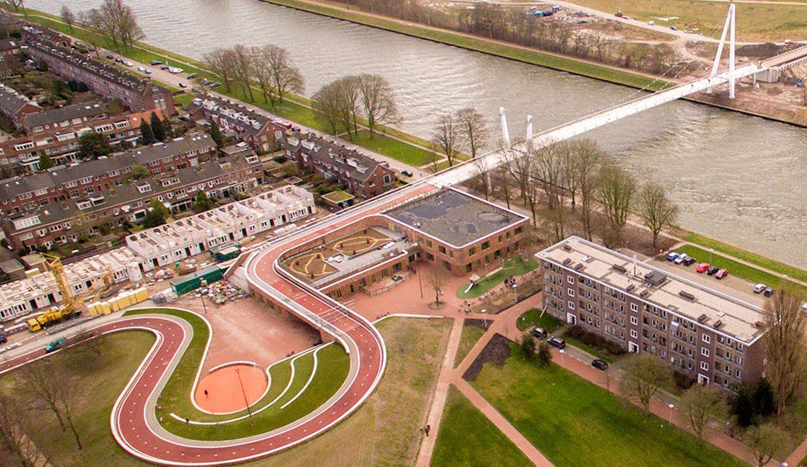 Un ponte, una scuola e un parco. Utrecht ciclabile