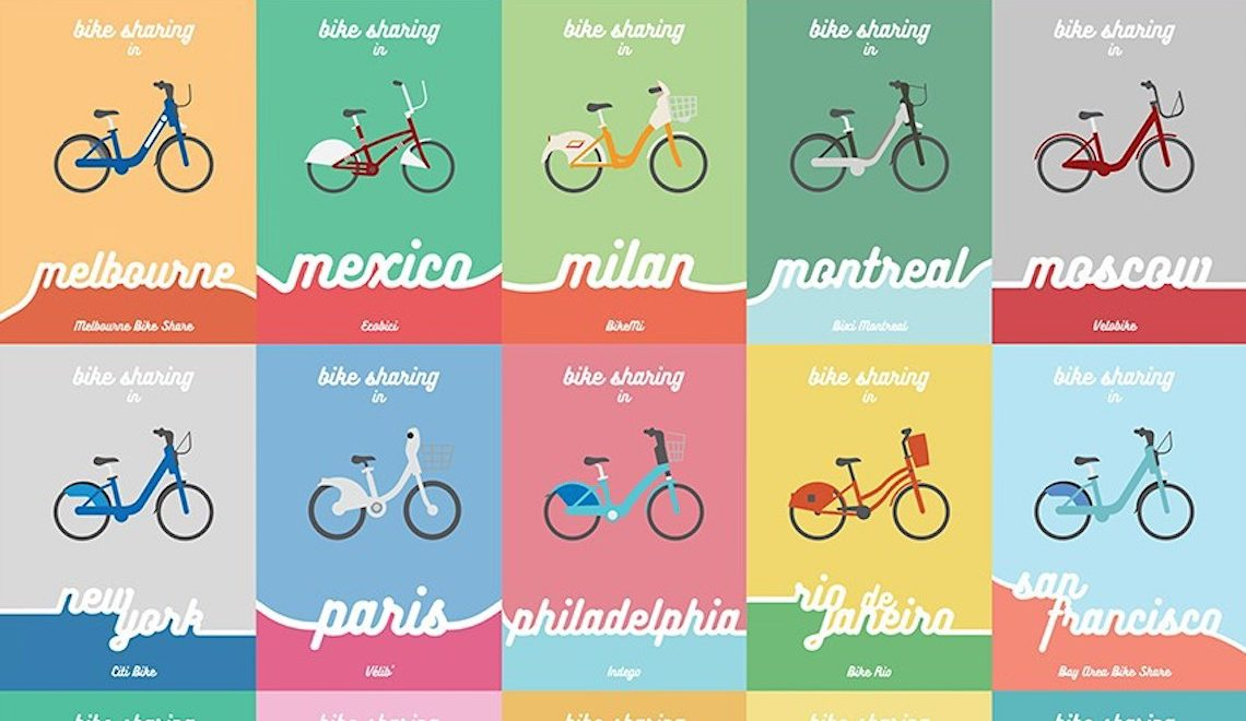 Bike sharing nel mondo, in 25 illustrazioni