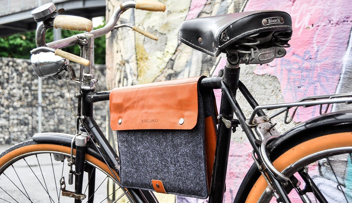 Escuro Bicycle Bag. Elegante e funzionale