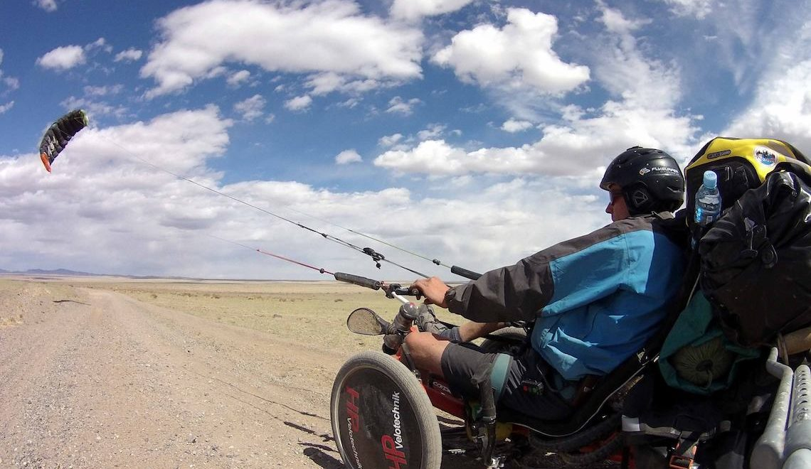 The Transmongolian Kite Trike Tour. Matthias Ramsel