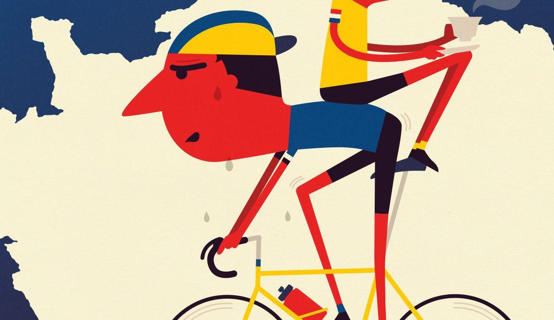 Le illustrazioni sul ciclismo di Spencer Wilson