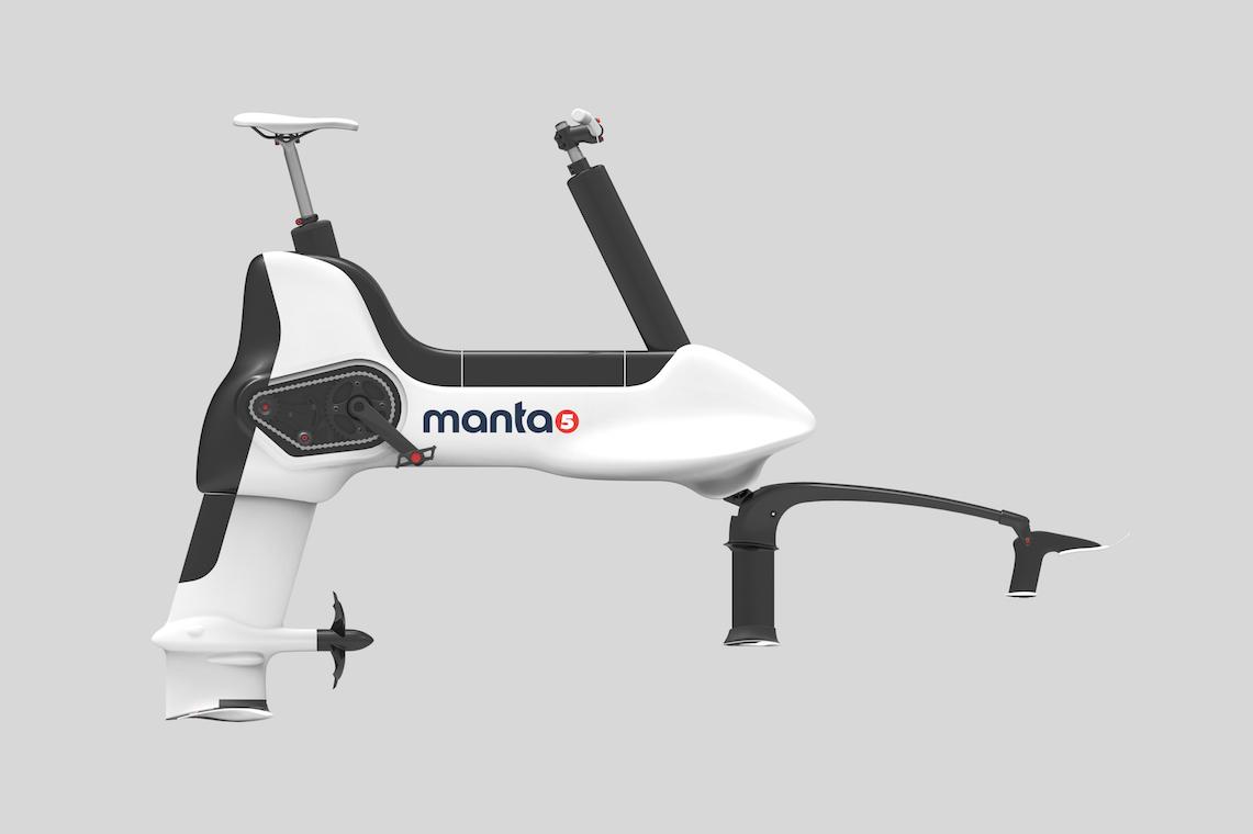 Manta5 hydrofoil bike urbancycling_1