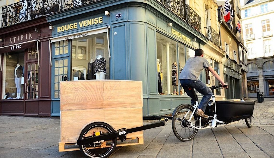 BicyLift Trailer, trasporta anche la merce su pallet