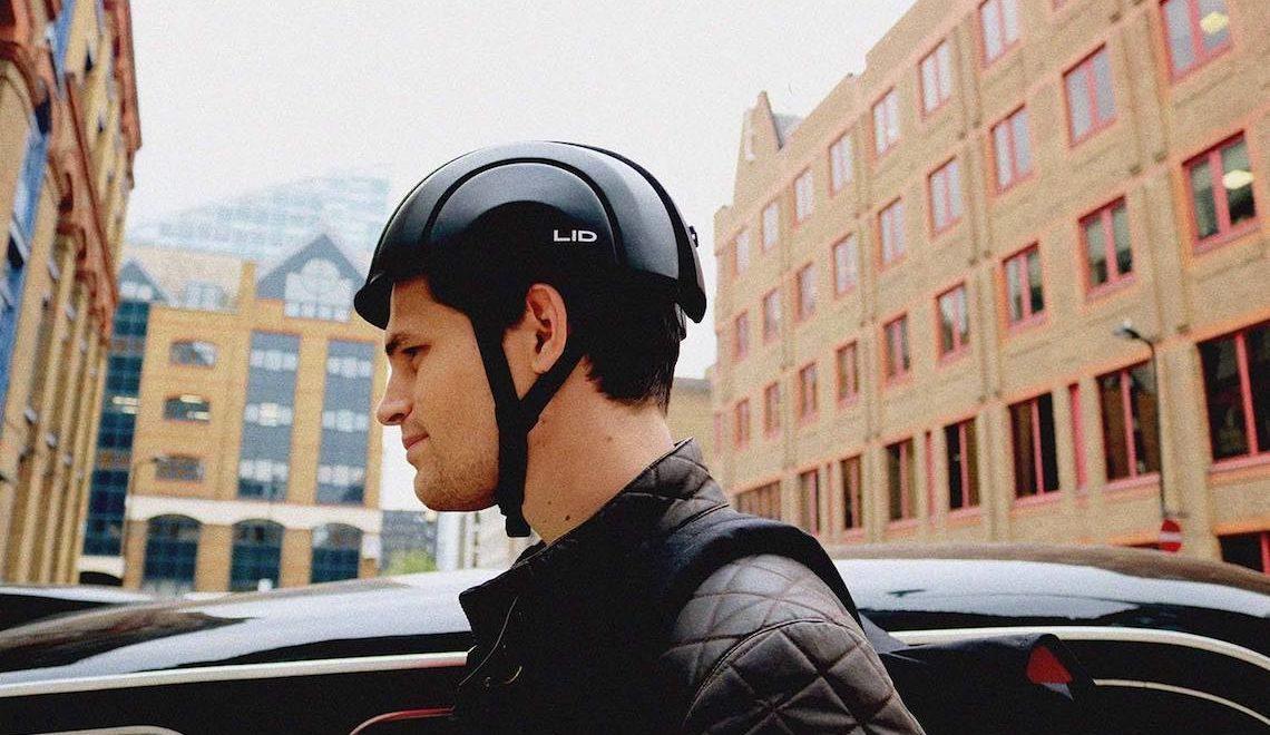 LID è il nuovo casco pieghevole per i ciclisti urbani