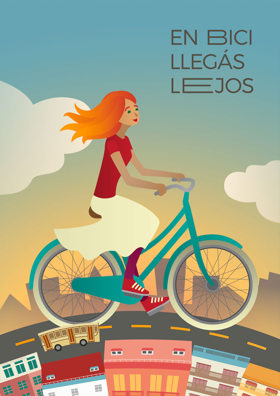 Lina Besedina illustrations_Bicycle_Campaign_urbancycling_3