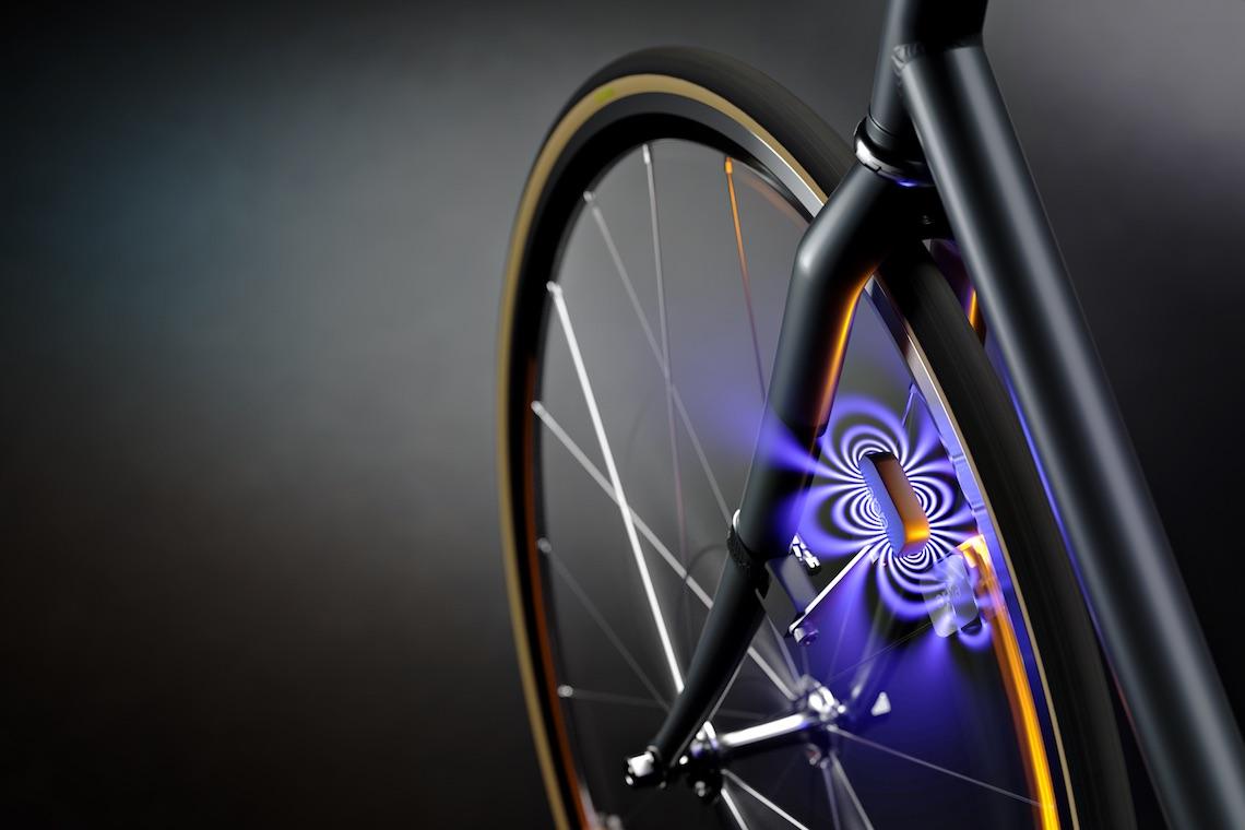 Arara. lilluminazione per bicicletta senza batterie o dinamo