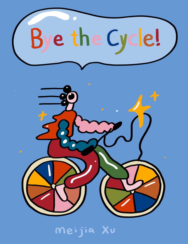 Bicycle Zine by Meijia Xu illustrations_1