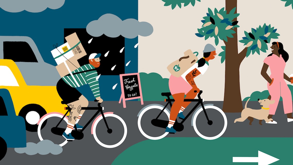 Ilse Weisfelt illustrations for VanMoof_3