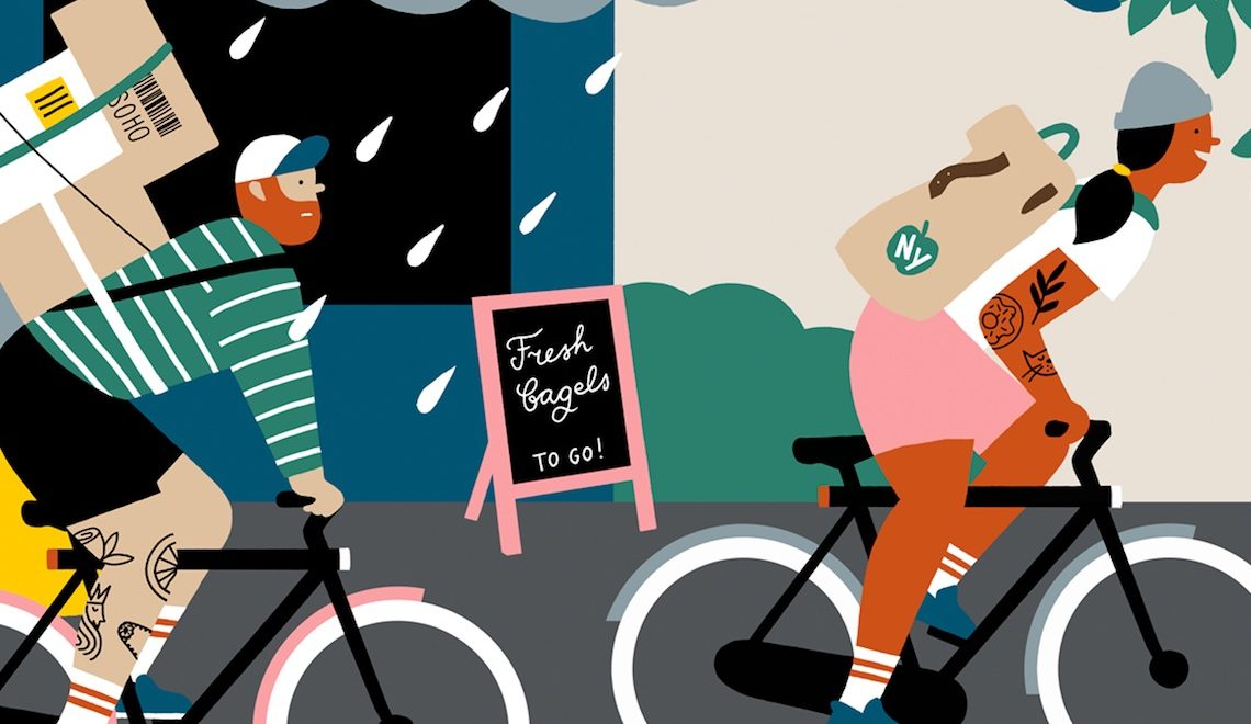 Ilse Weisfelt illustrations for VanMoof_E