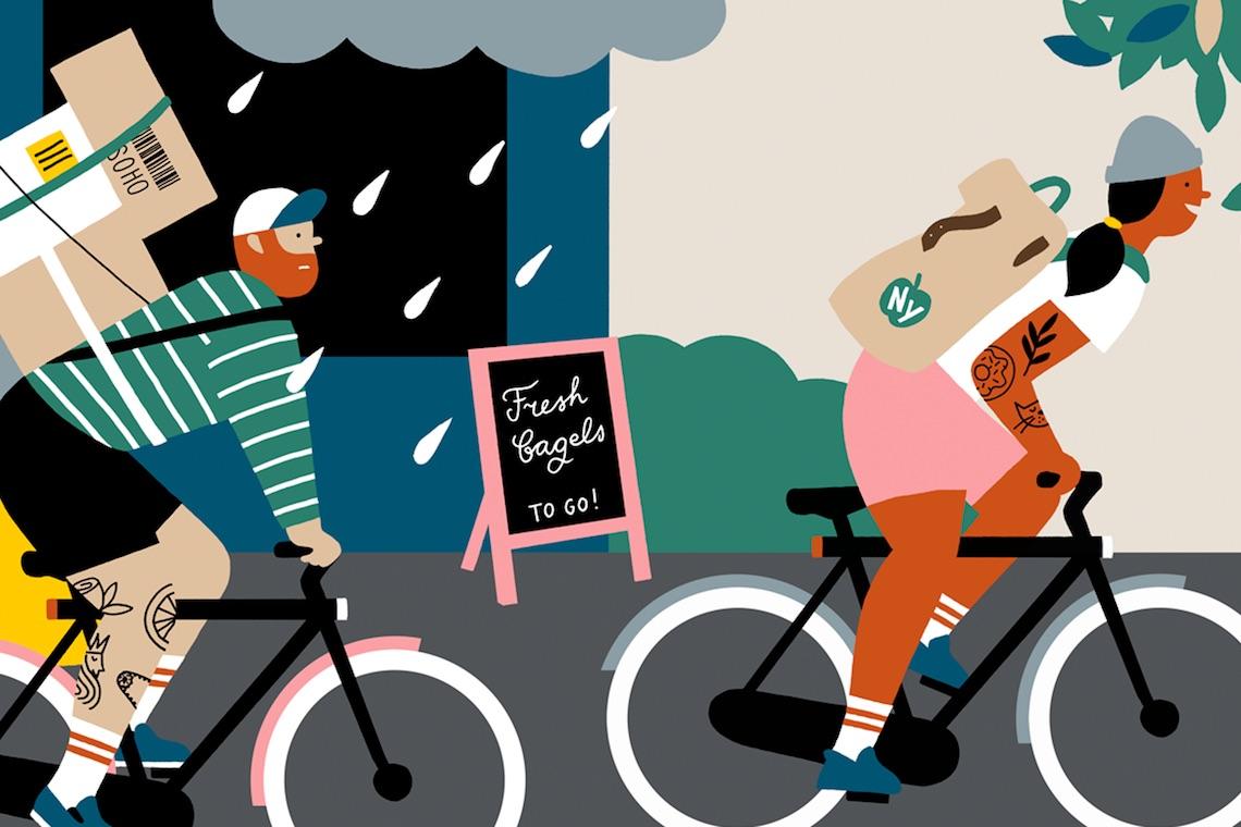 Ilse Weisfelt illustrations for VanMoof_E