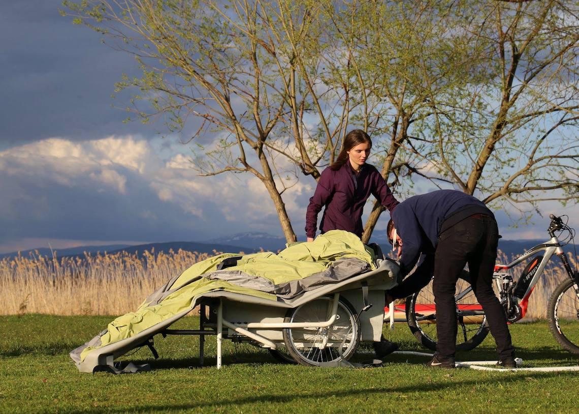 B-Turtle il camper gonfiabile per la bici_2