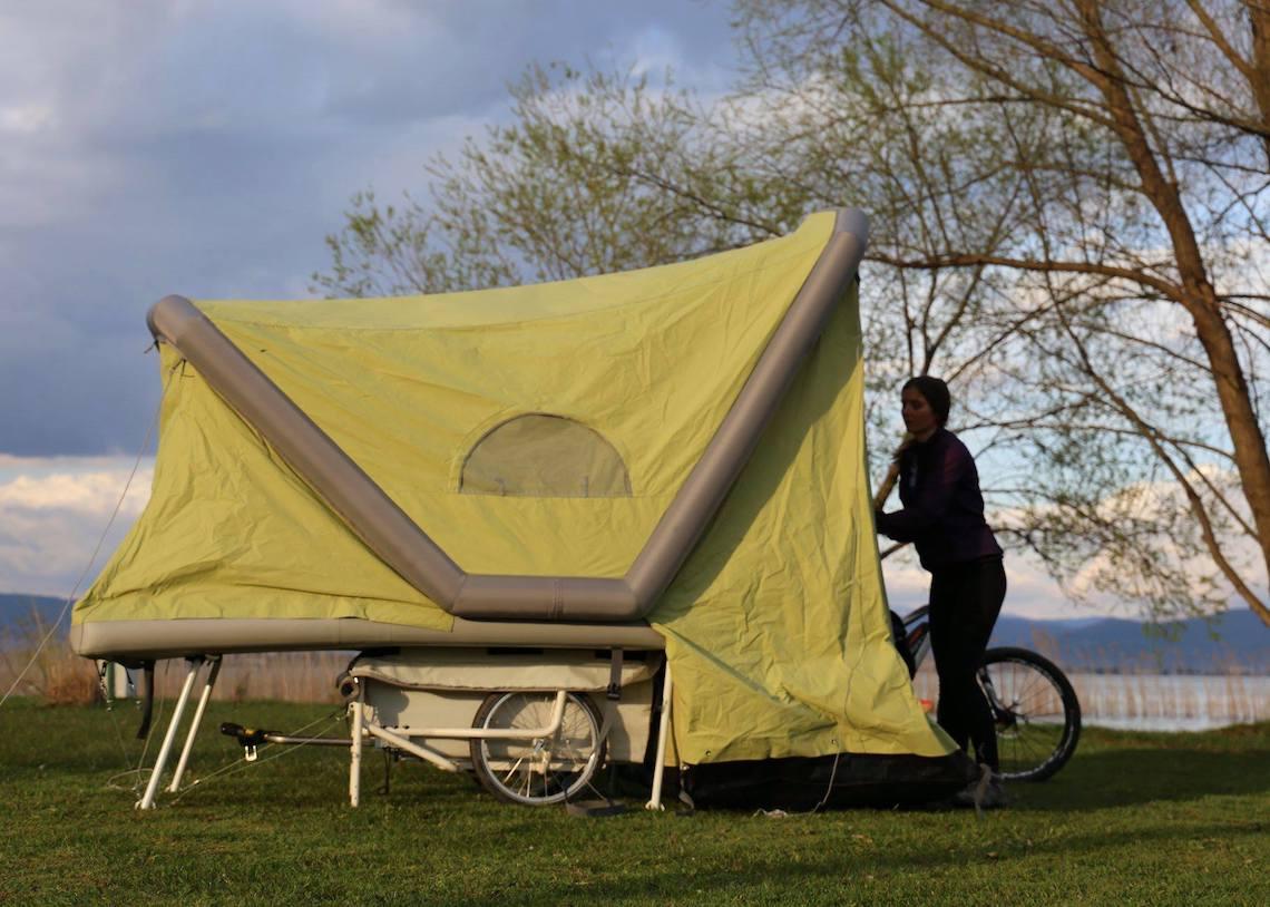 B-Turtle il camper gonfiabile per la bici_4