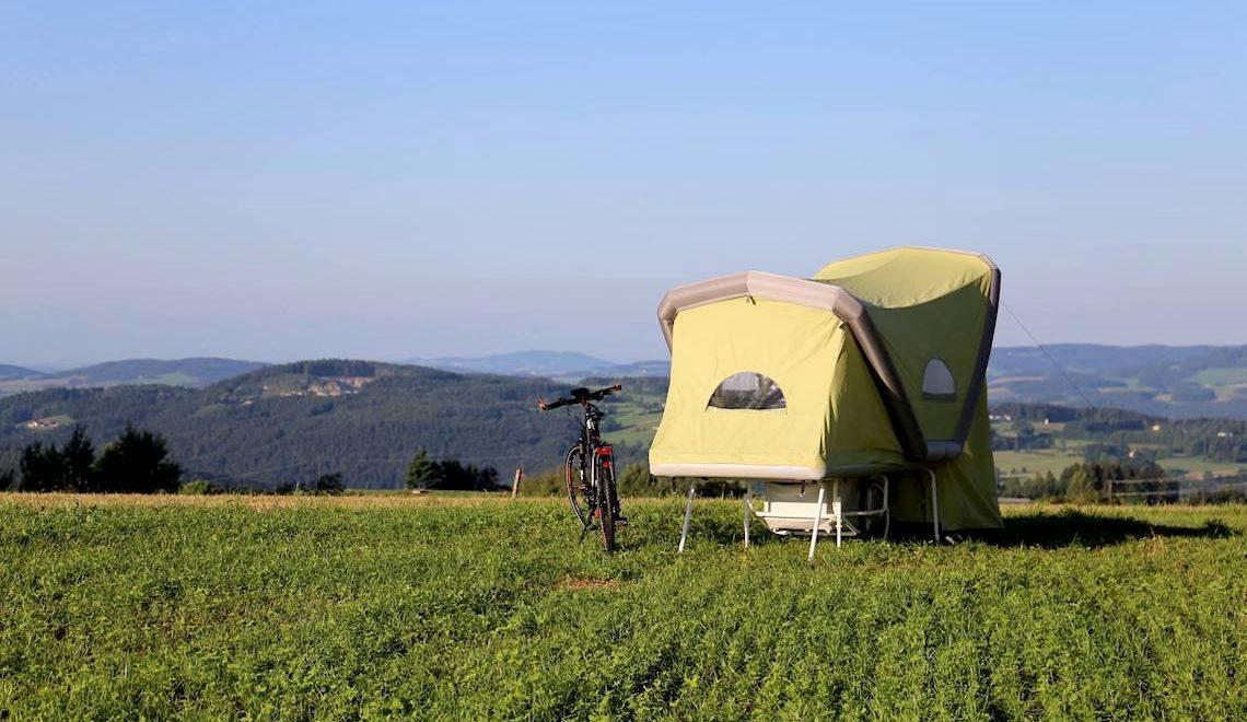 B-Turtle, il camper gonfiabile per la bicicletta