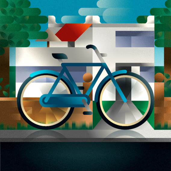 Francesco Faggiano bike illustrations_5