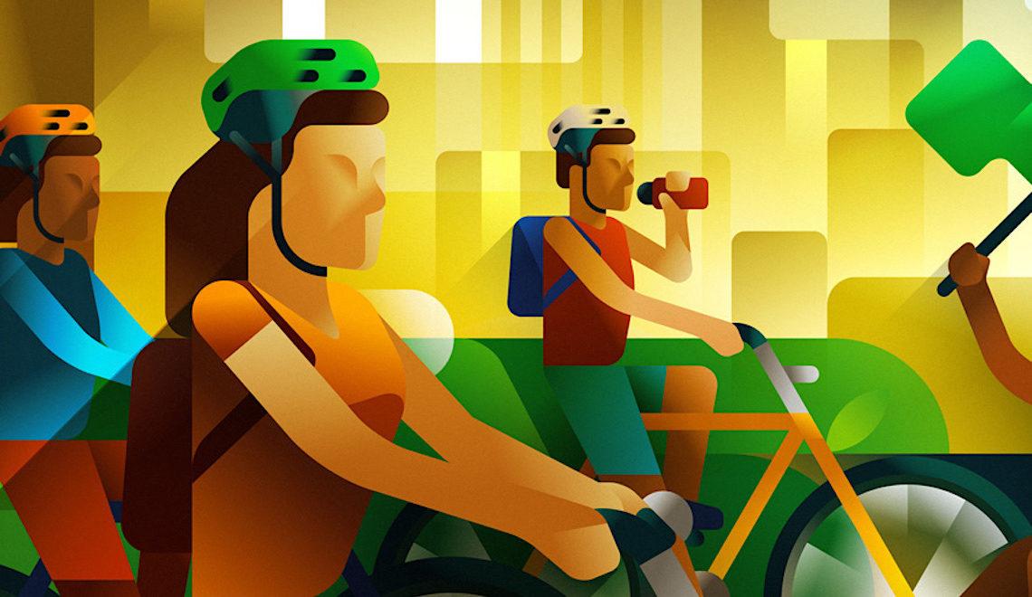 Le illustrazioni sulla bicicletta di Francesco Faggiano