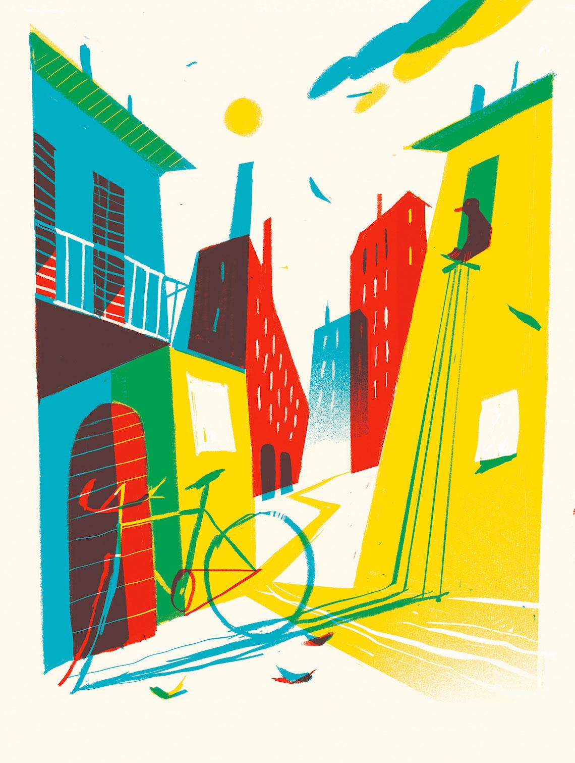 La Bicicletta Gialla illustrazione_Riccardo_Guasco_1