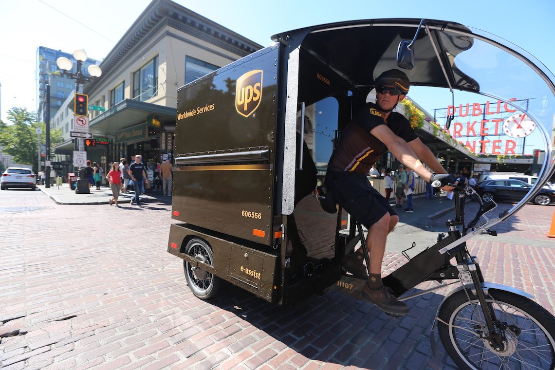 UPS cargo e-bike_Seattle_urbancycling_1