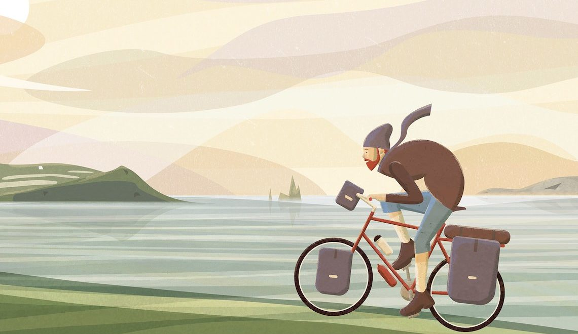 Bicycles. Le illustrazioni in bici di Jim Boum