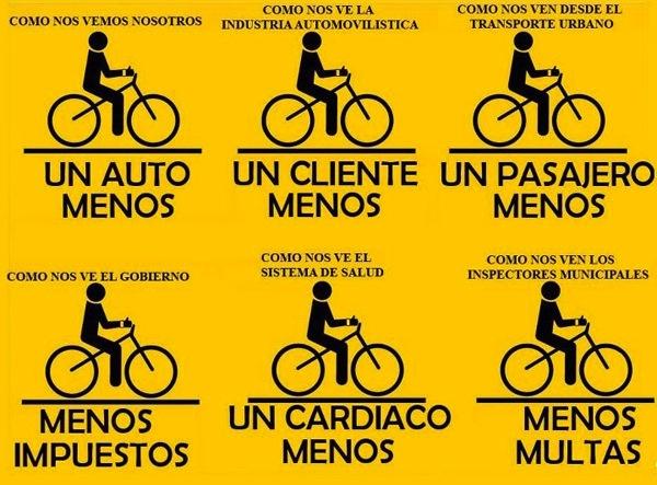 """""""Como nos ven"""" la bicicletta!"""