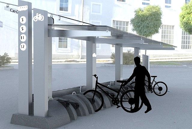 Progetto di una stazione per biciclette a pedalata assistita, by Silvia Imbesi