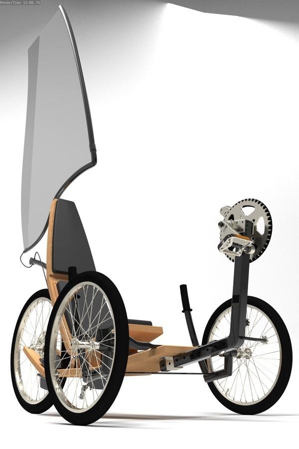 Concept di Triciclo ad energia eolica