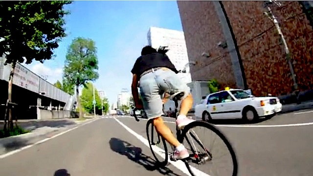 Sapporo, compilation movie. Urban cycling in Giappone