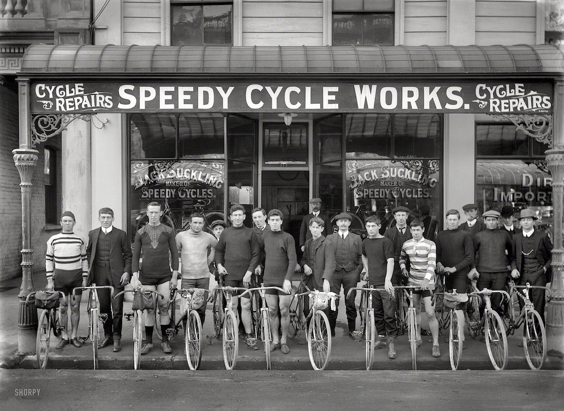 Shorpy_Speedy Cycle Works, Manchester Street_Christchurch, New Zealand, circa 1913_urbancycling_1