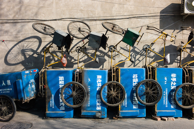 Xiaomeng Zhao. Biciclette a Pechino