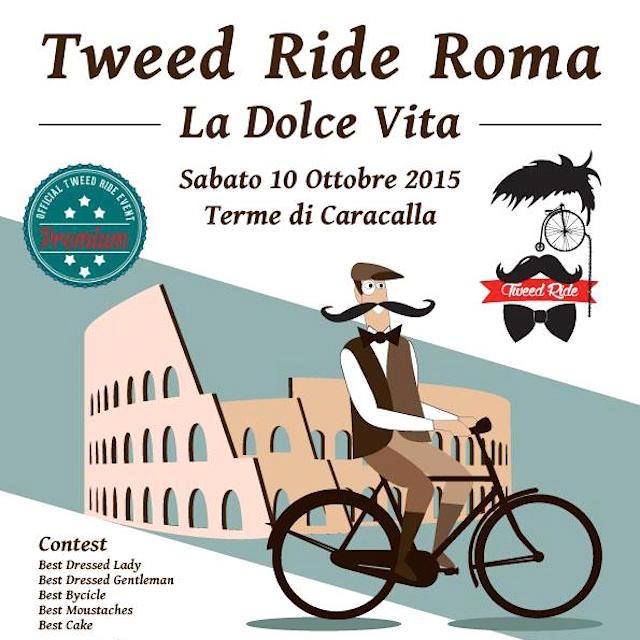 "Tweed Ride 2015 ""La Dolce Vita"" a Roma"